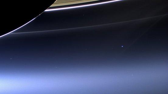 Cassini's Pale Blue Dot